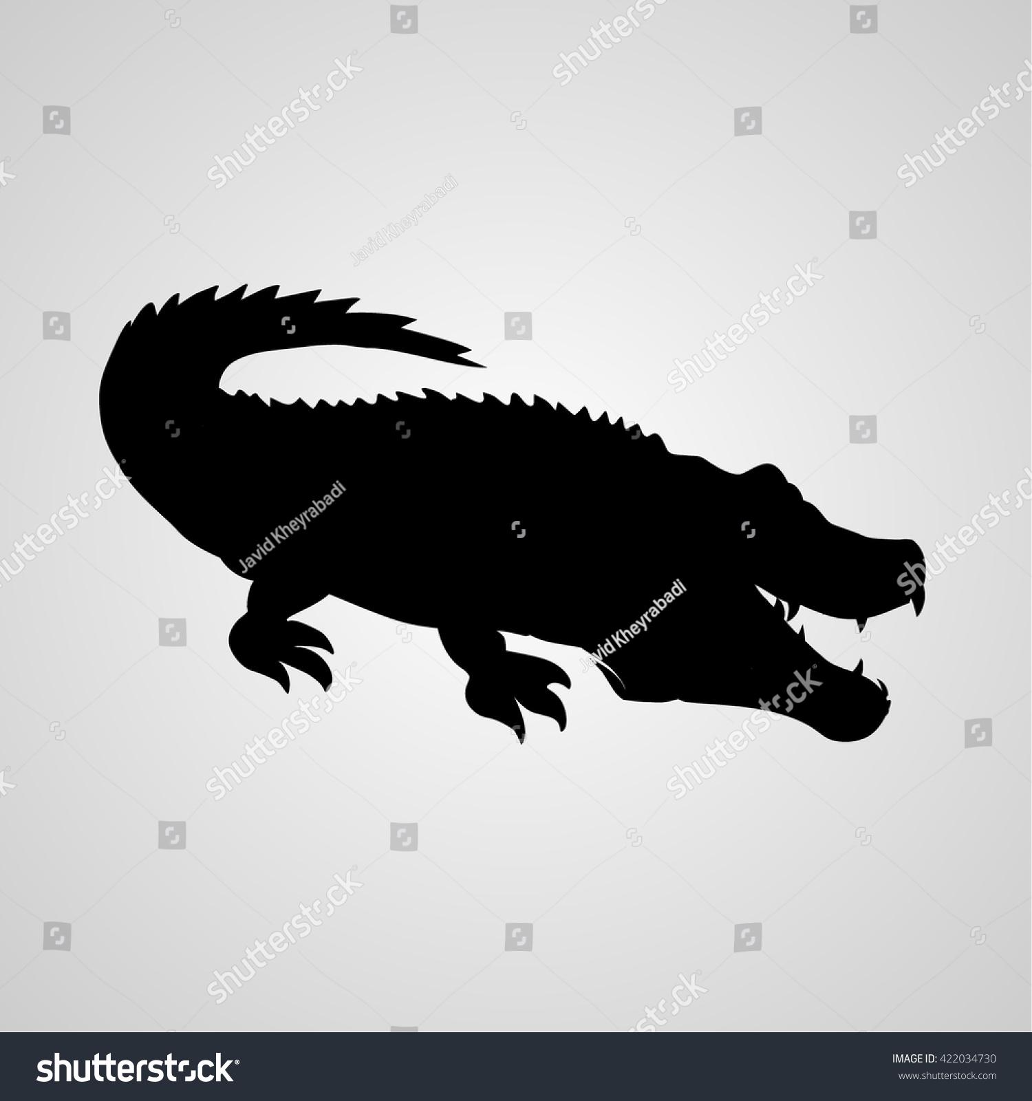 Crocodile Icon Crocodile Sign Stock Vector 422034730 Shutterstock