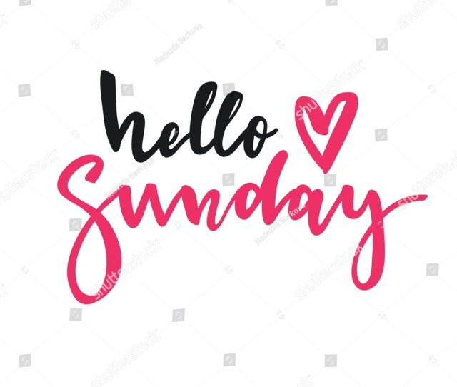 Cute Print With Lettering Hello Sunday