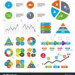 Data Pie Chart Graphs Fishing Icons Stock Vector Royalty Free 439926418