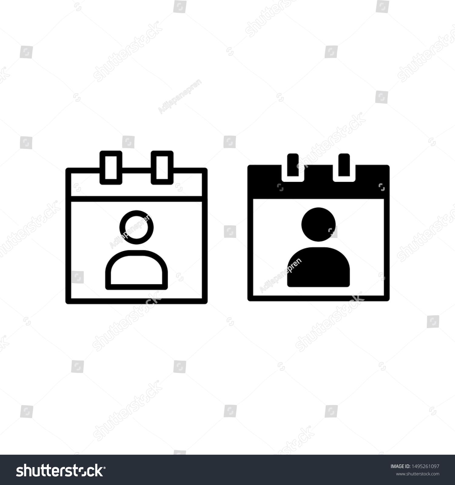 Icone Date De Naissance Avec Contour Image Vectorielle De Stock Libre De Droits 1495261097