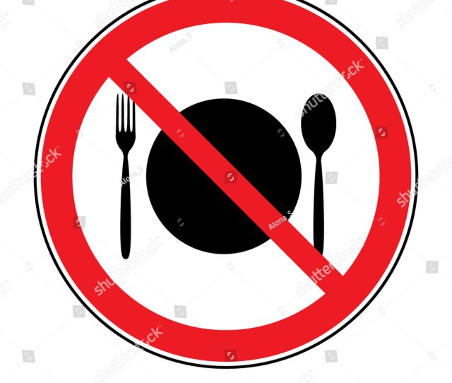 Knife And Fork No Food Sign