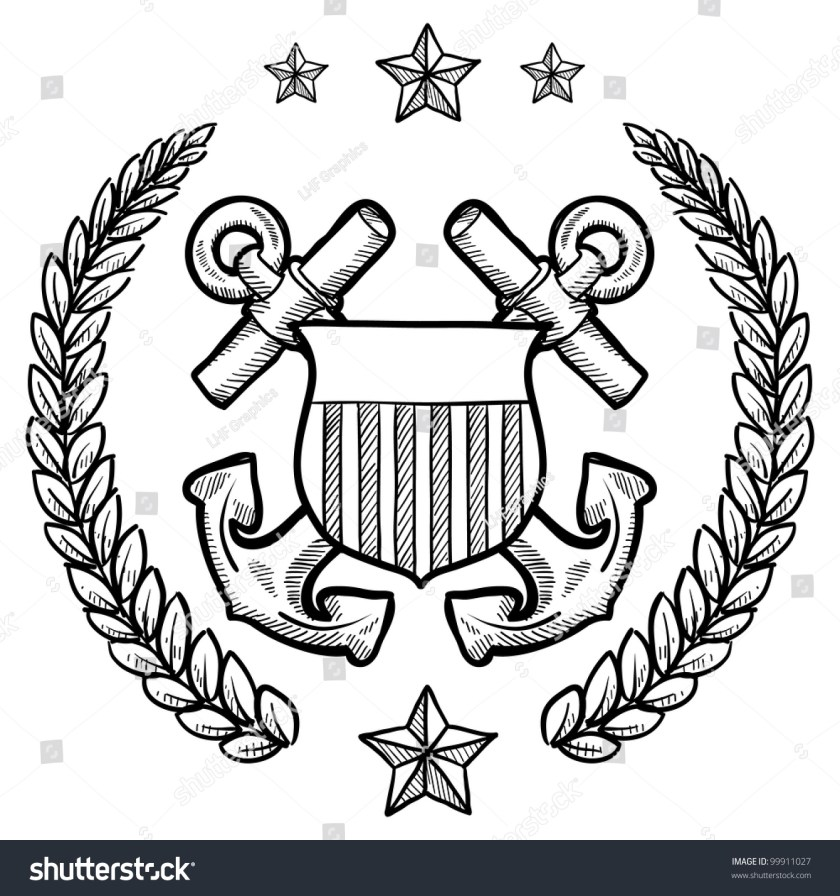 doodle style military rank insignia for us navy including