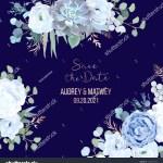 Dusty Blue Rose Echeveria Succulent Hydrangea Stock Vector Royalty Free 1239613324