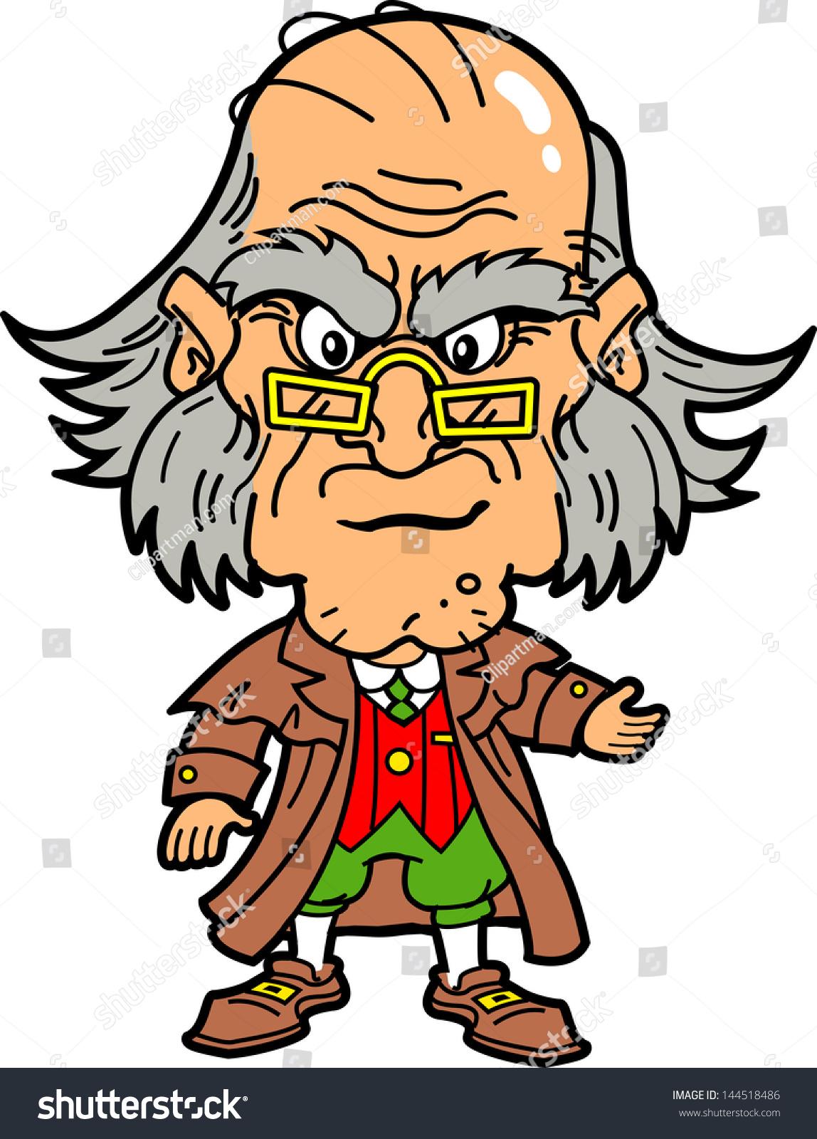 Ebenezer Scrooge Cartoon Side Views