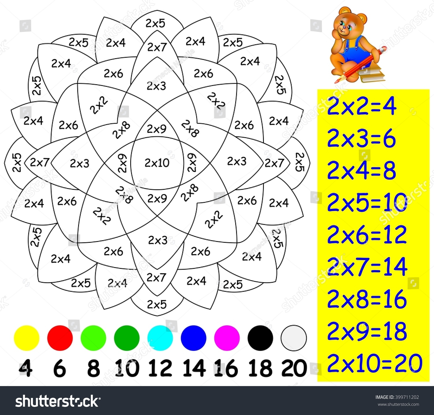 Tablas De Multiplicar Extendidas Actividades Ldicas Educativas 2x2 Multiplication Subtraction