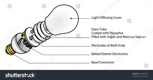 Exploded Diagram Of A Cfl (Compact Fluorescent Lamp