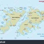 Falkland Islands Map Stock Vector Royalty Free 155352869