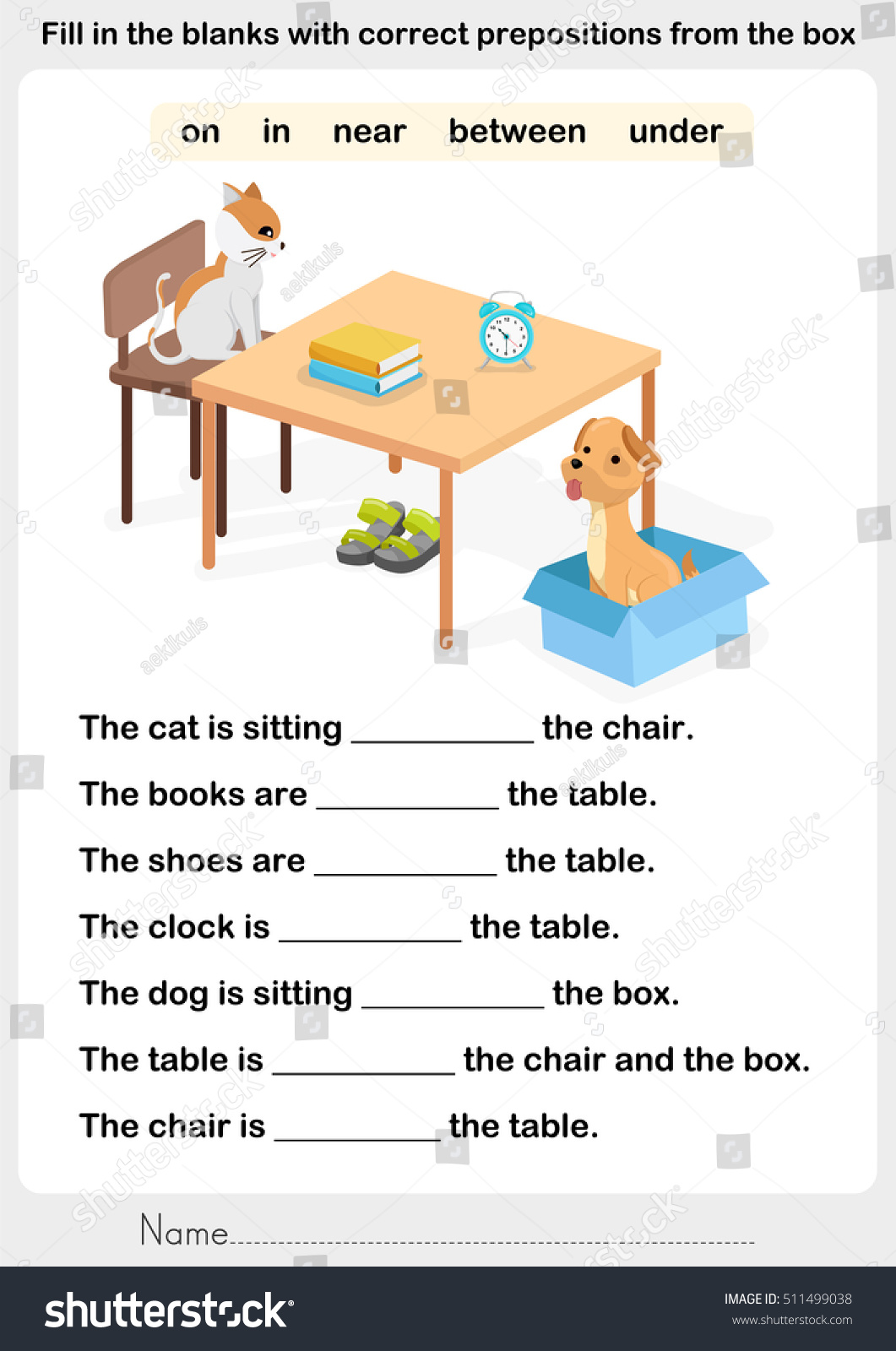 Preposition Worksheet With Answers