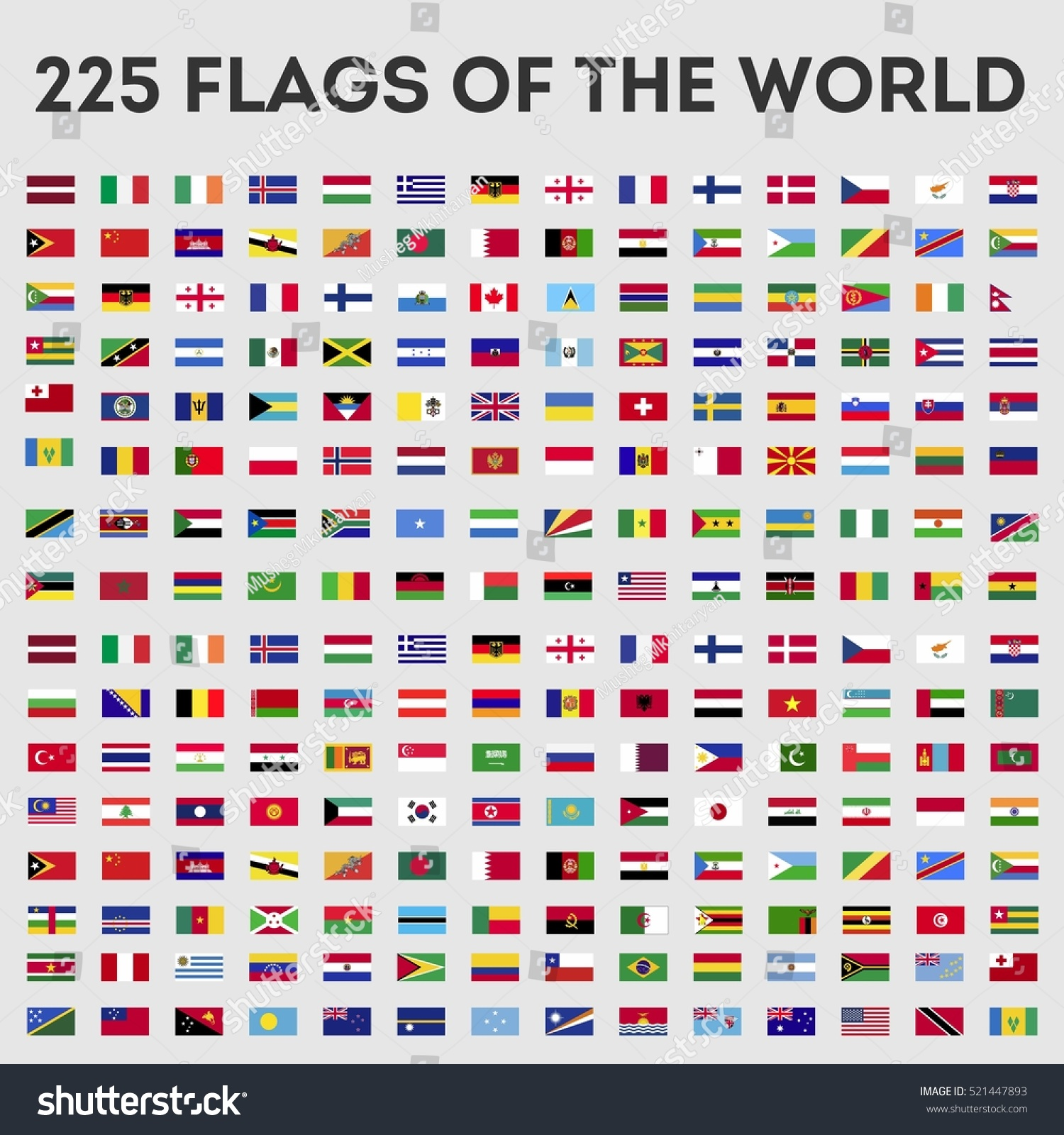 Flags World Vector Graphics Stock Vector