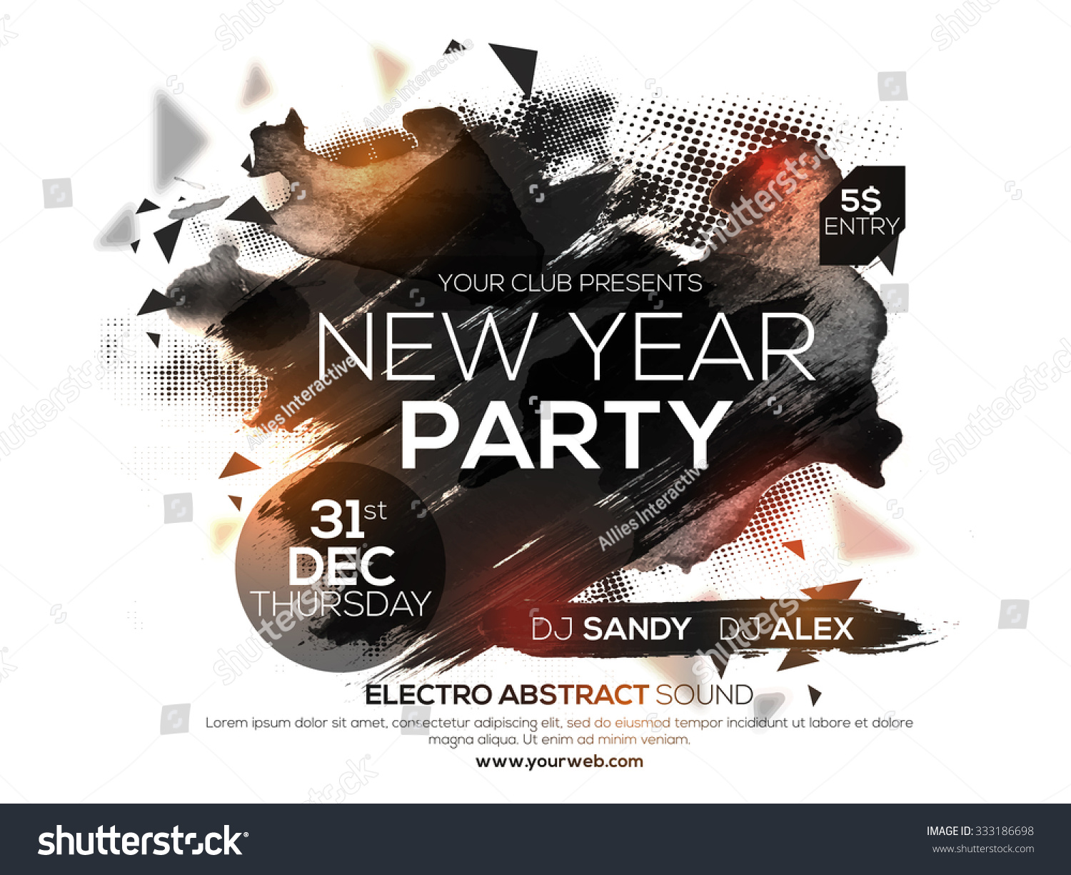Flyer Banner Poster 2016 New Years Stock Vector  Royalty Free     Flyer  Banner or Poster for 2016 New Year s Eve Party celebration