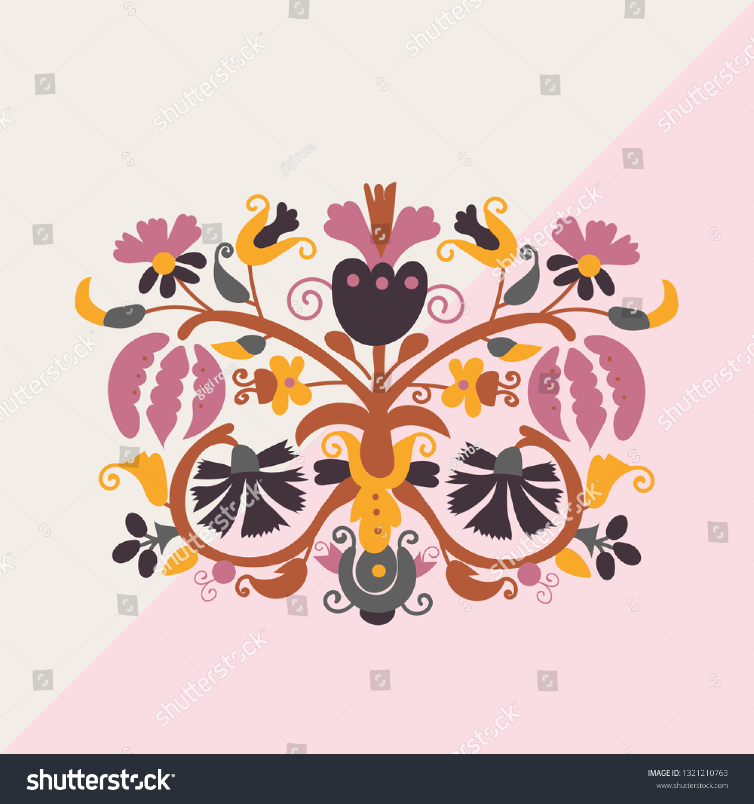 Paisley Seamless Asian Pattern Folklore Vector Stock Vector