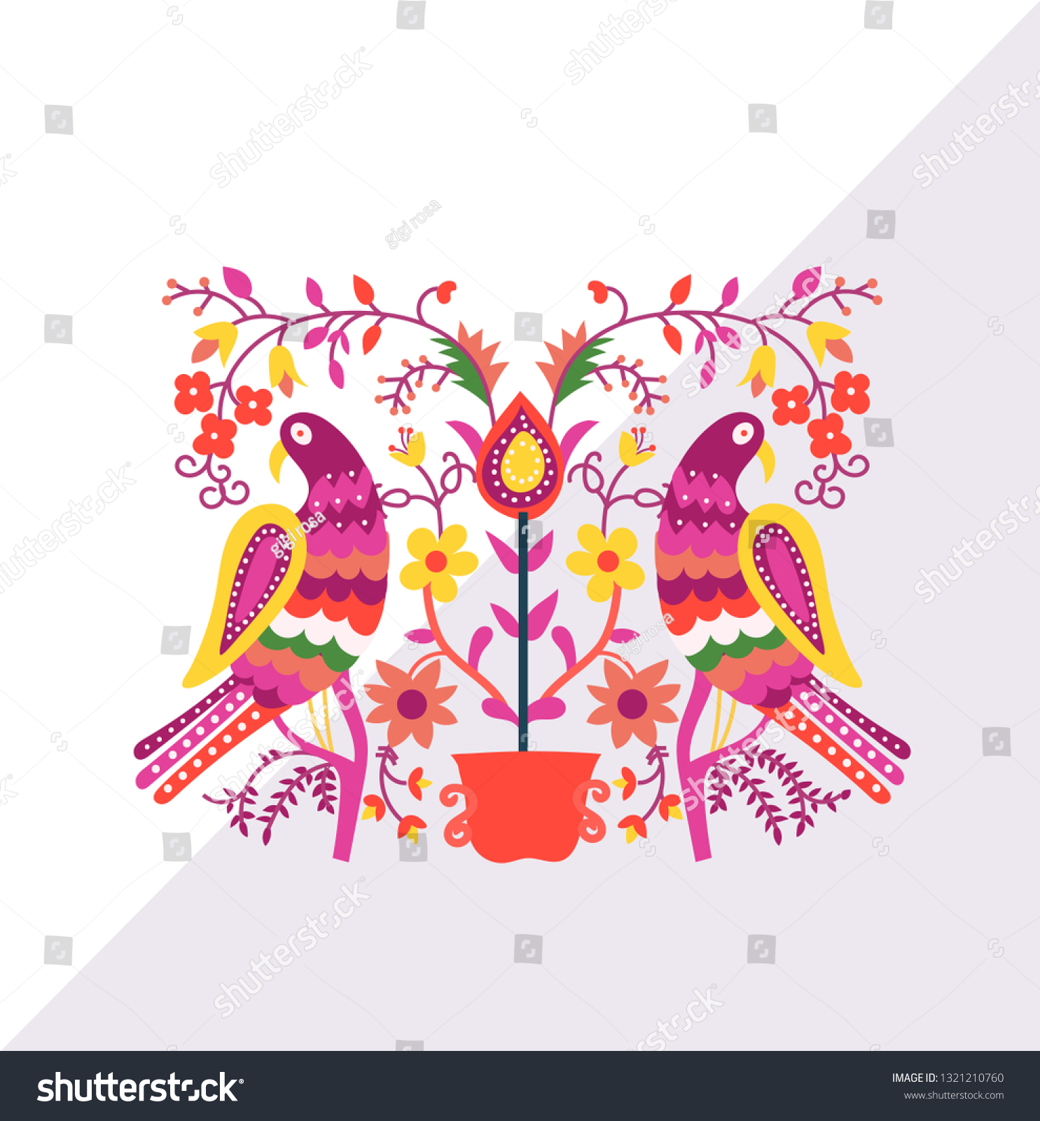 Happy Girl In Bright Dress Dancing At Folklore Vector Image