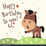Funny Horse Sings Song Happy Birthday Stock Vector Royalty Free 580633138