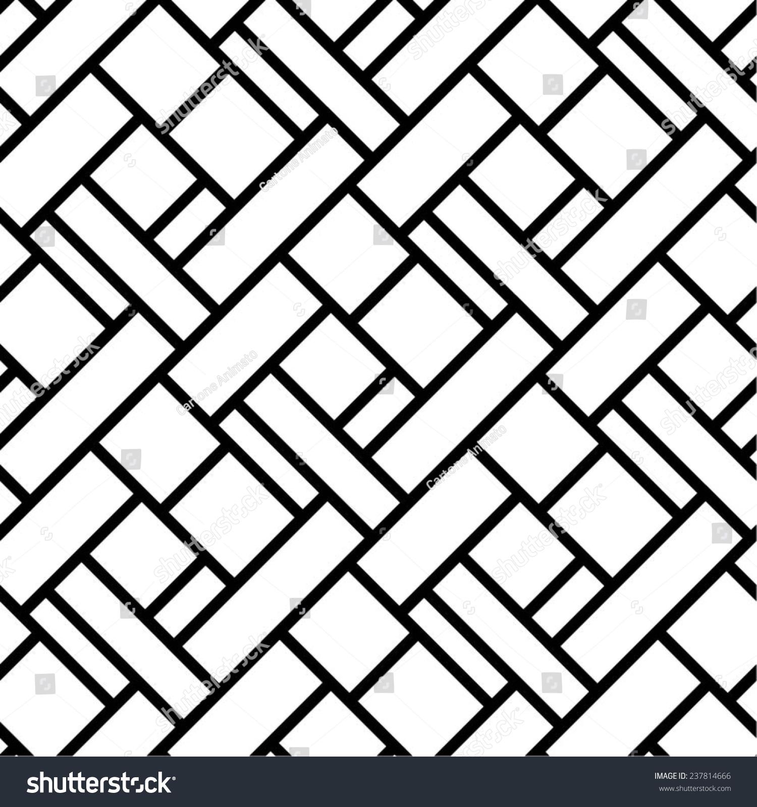 Geometric Pattern Square Rectangle Diagonal Blackwhite