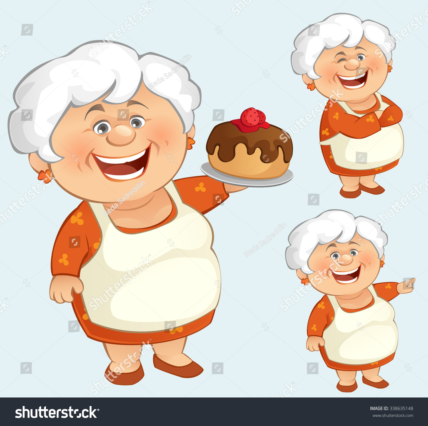 Cartoon Grandma Clip Art