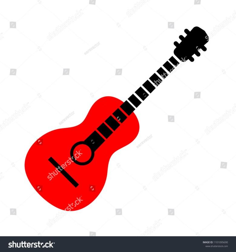 guitar icon music instrument sound play stock-vektorgrafik