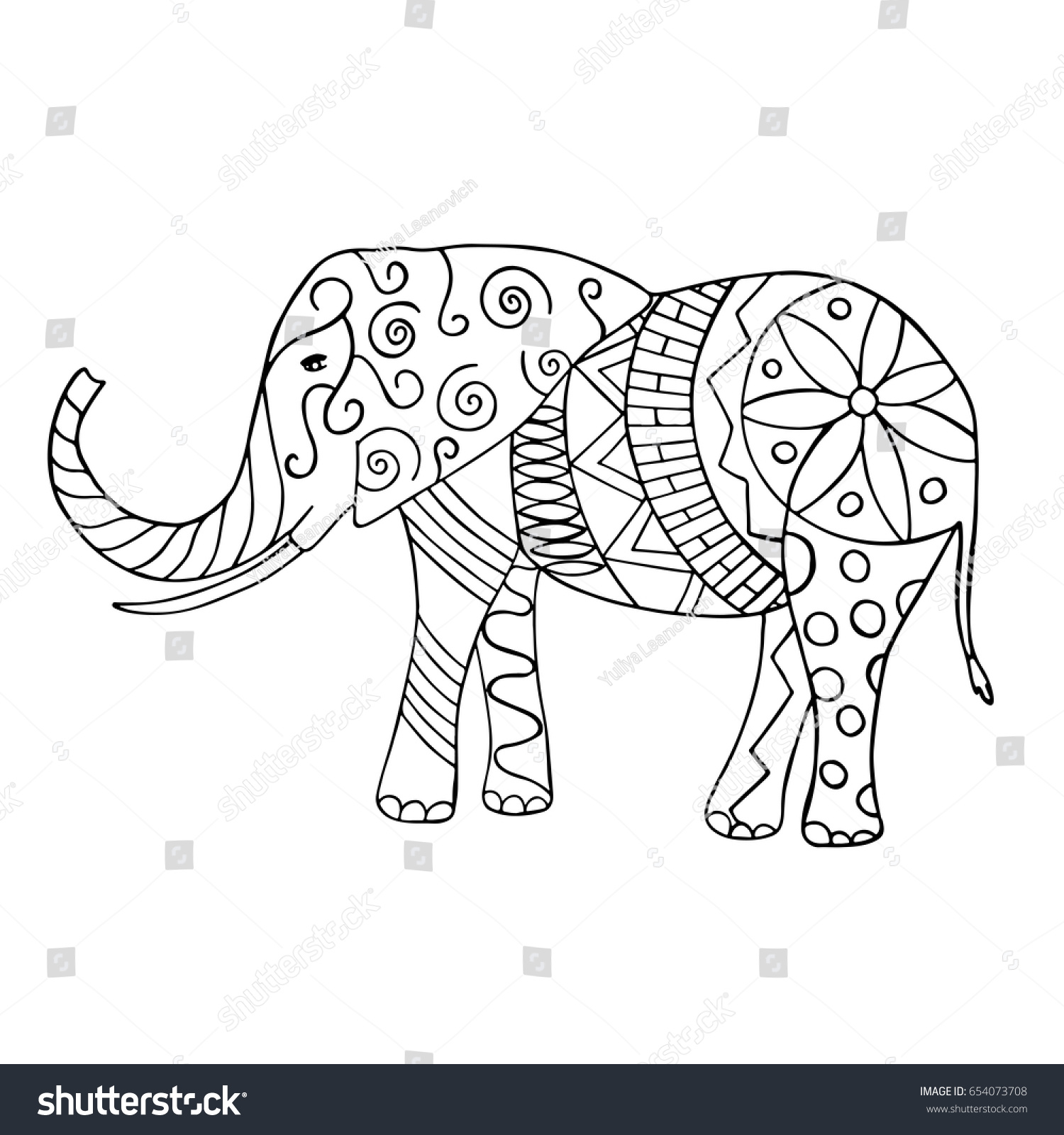 Elephant Pictures To Trace