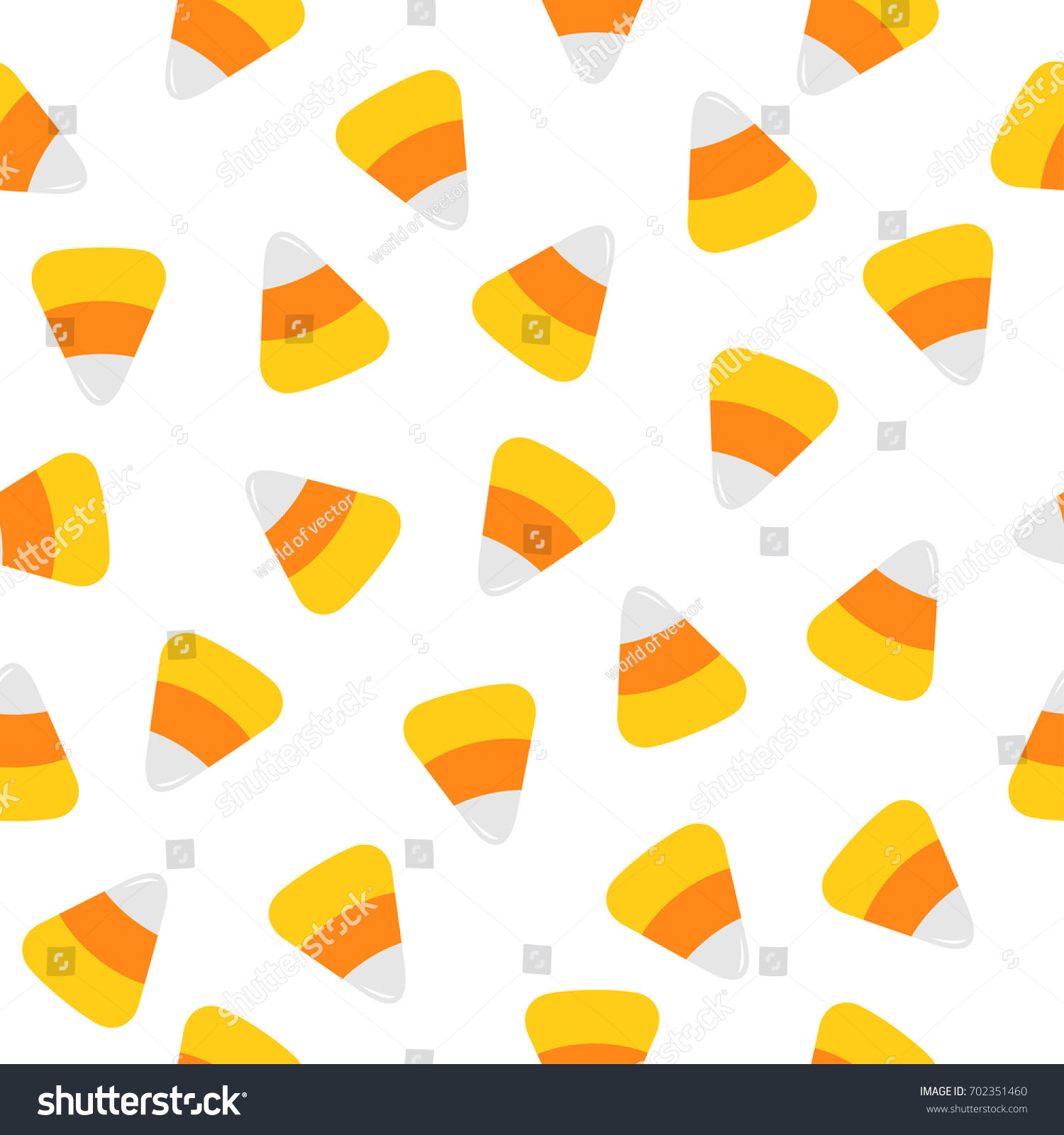 Happy Halloween Candy Corn Seamless Pattern Stock Vector
