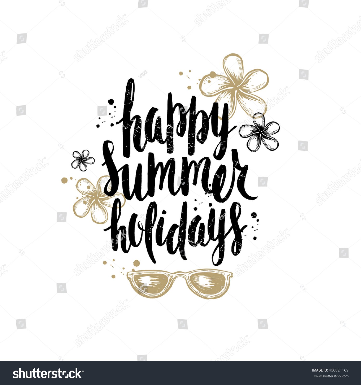 Happy Summer Holidays Summer Holidays Vacation Stock