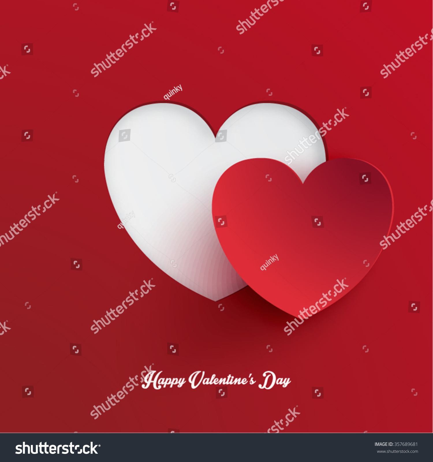 Heart Shape Valentine S Day Paper Cut Out Vector Design