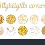 Highlight Cover Big Set Minimal Marble Stock Vector Royalty Free 1563711361