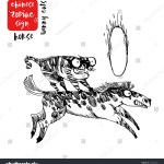 Horse Funny Cats Chinese Zodiac Signs Stock Vector Royalty Free 747245941