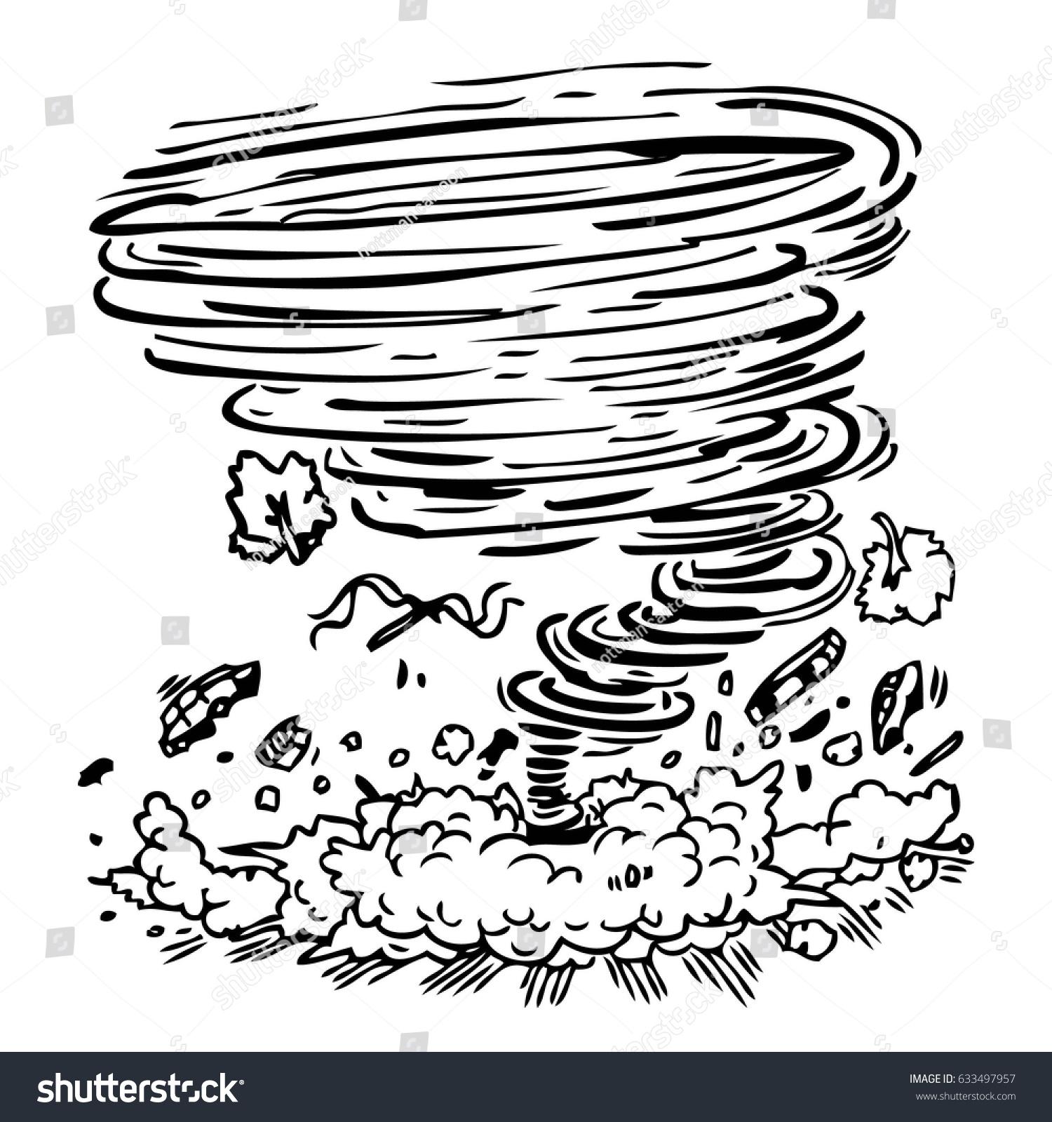 Hurricane Damage Stock Vector
