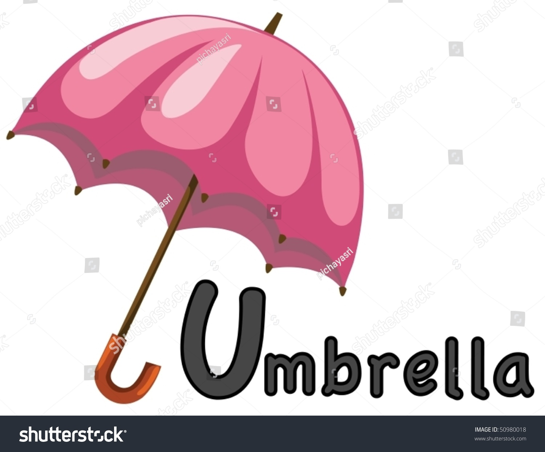 Illustration Isolated Alphabet U Umbrella On Stock Vector