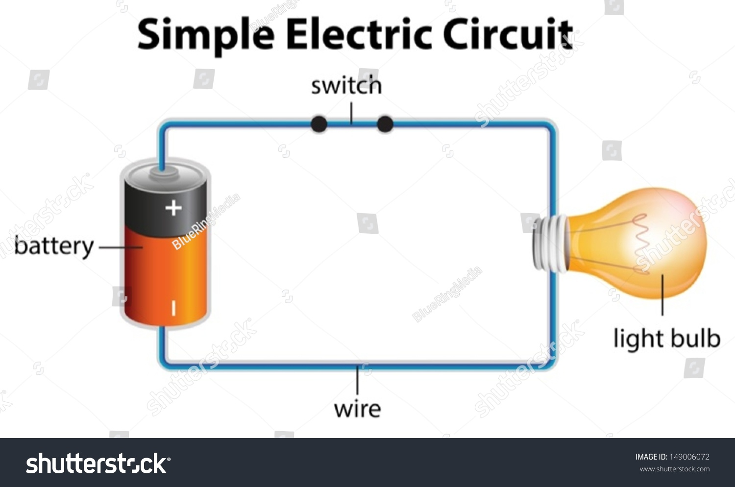 Illustration Showing Electric Circuit Stock Vector