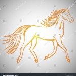 Vector De Stock Libre De Regalias Sobre Illustration Hand Drawn Running Wild Horse583252798