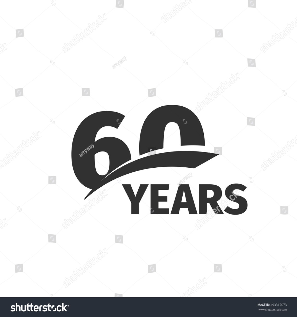 Download Isolated Abstract Black 60th Anniversary Logo Stock Vector ...
