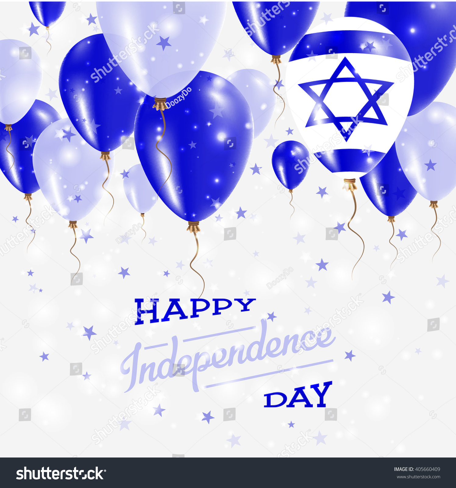 Israel Vector Patriotic Poster Independence Day Stock