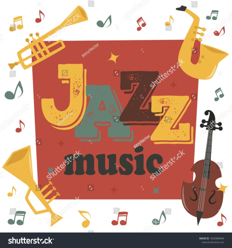 jazz musical instruments tools background jazzband stock
