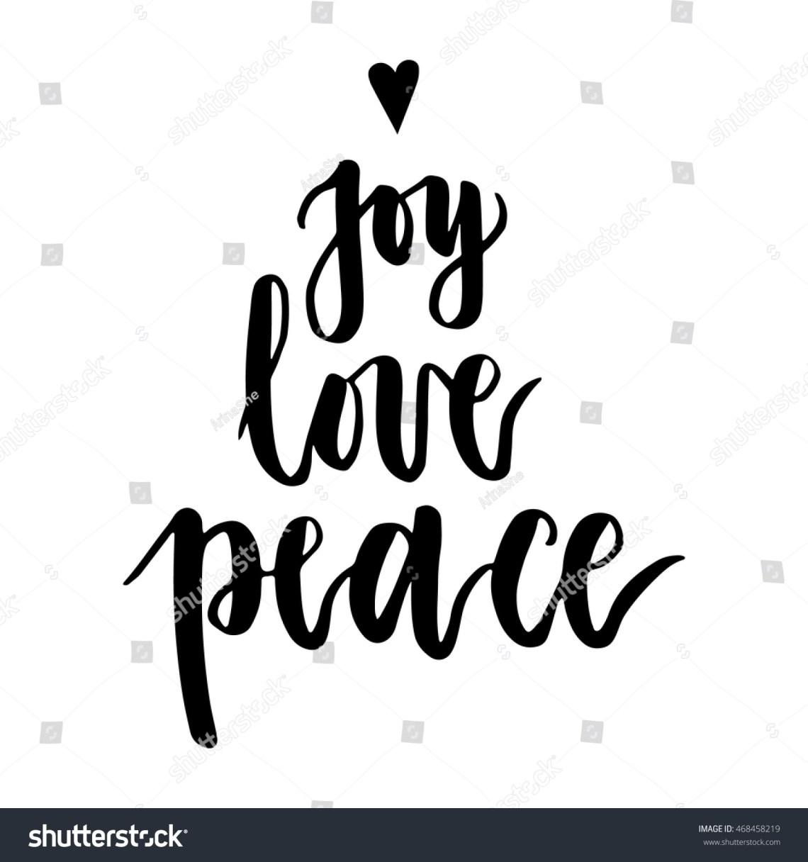 Download Joy Love Peace Christmas Written On Stock Vector 468458219 ...