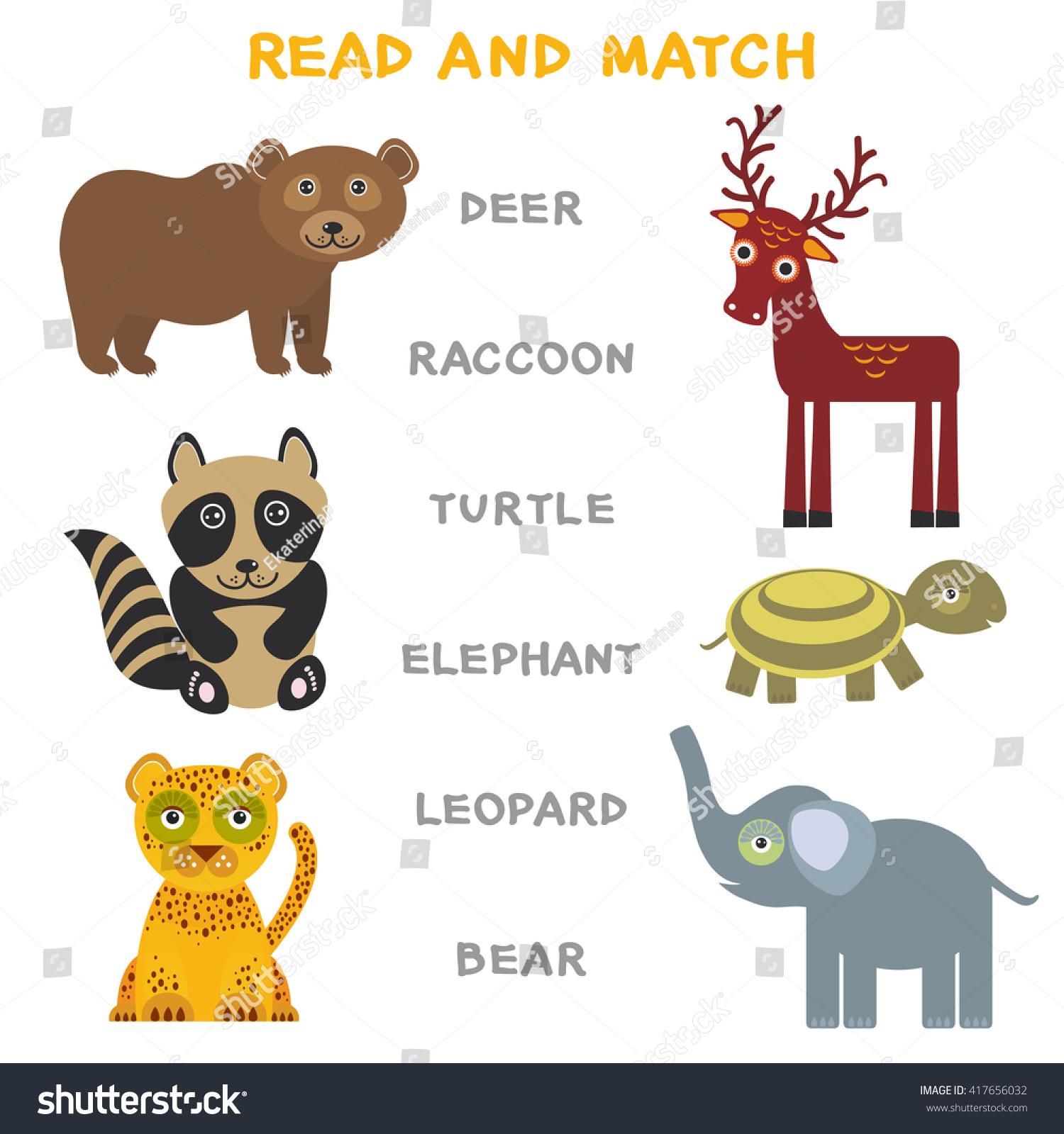 Kids Words Learning Game Worksheet Read Stock Vector