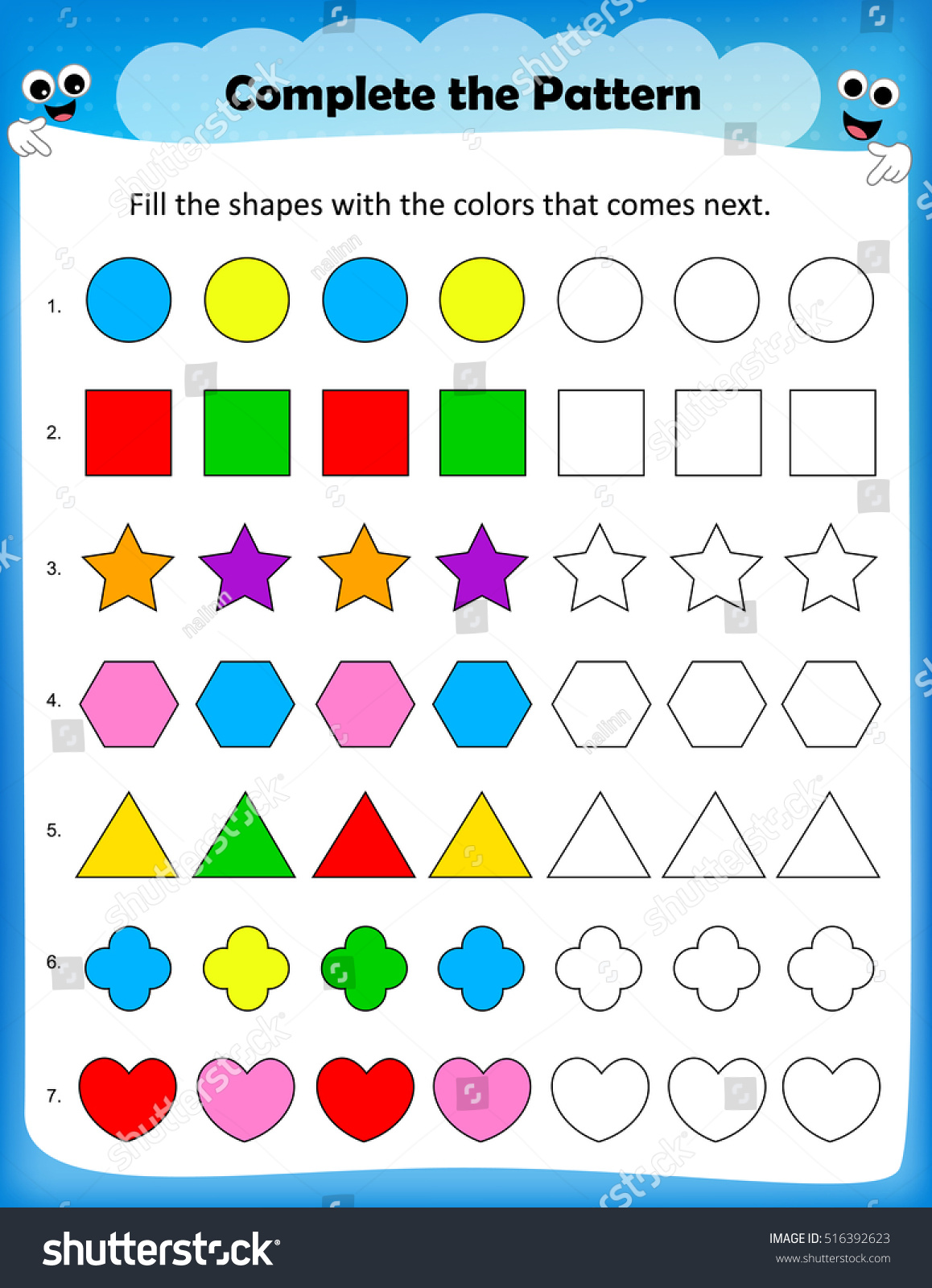 Repeating Patterns Worksheet