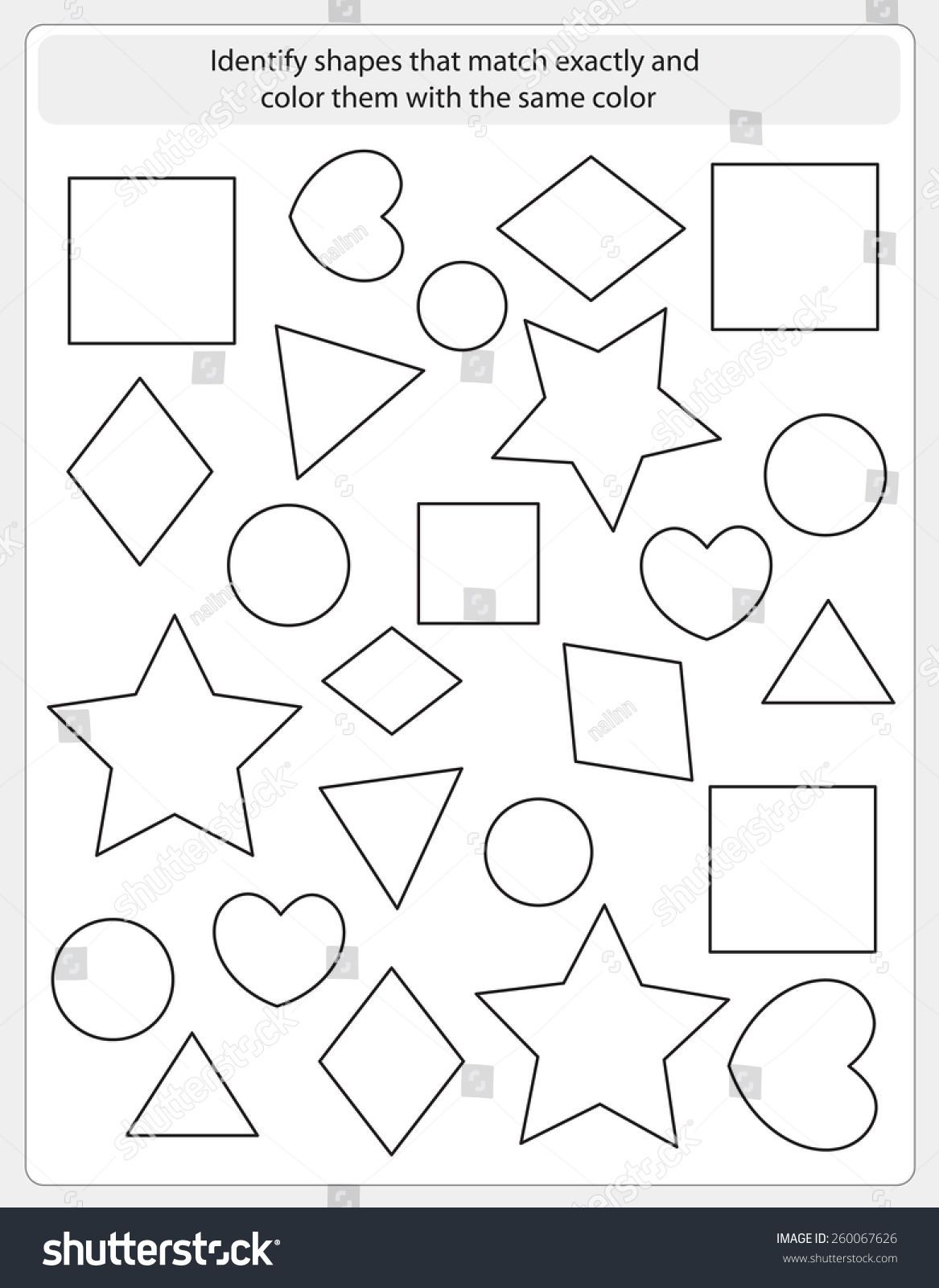 Worksheet Matching Same Color