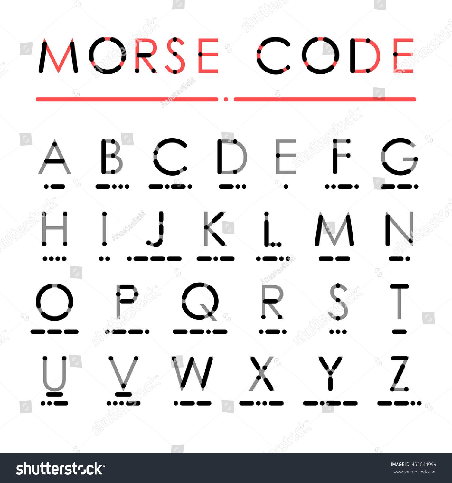 Latin Alphabet International Morse Code Visual Stock
