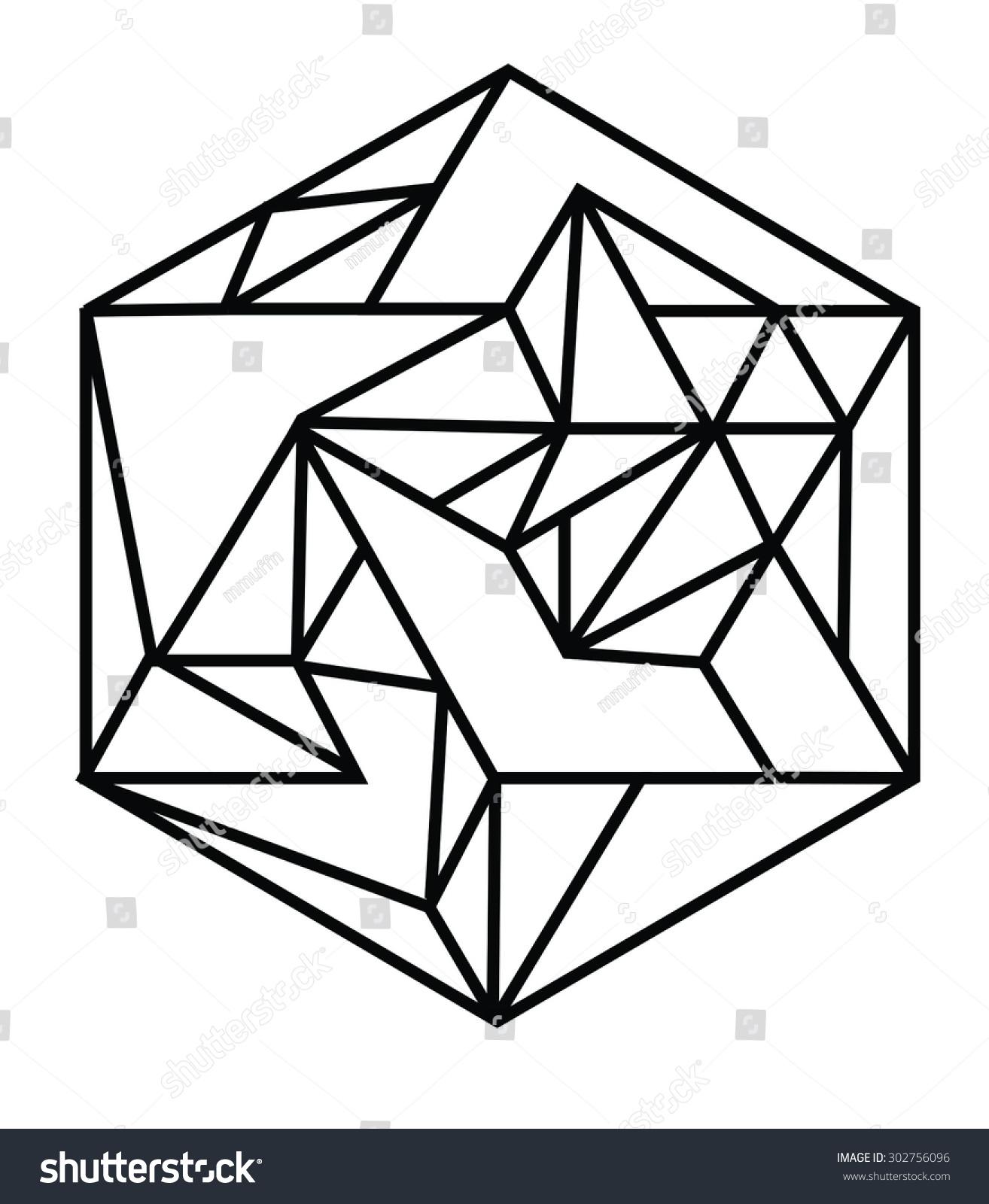 Line Linear Geometric Geometry Shape Illustration Stock