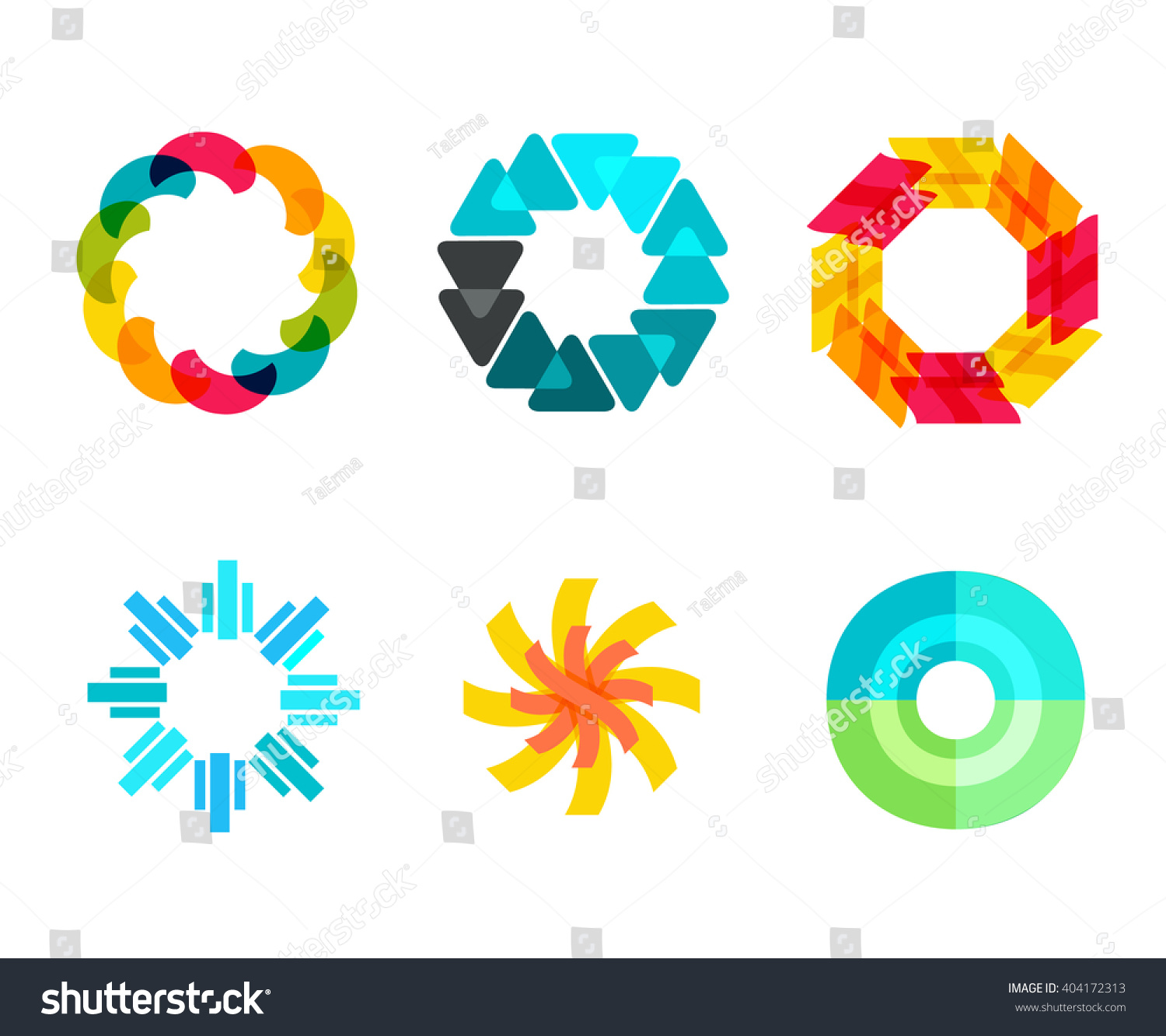 Logo Template Circle Shapes Vector Stock Vector