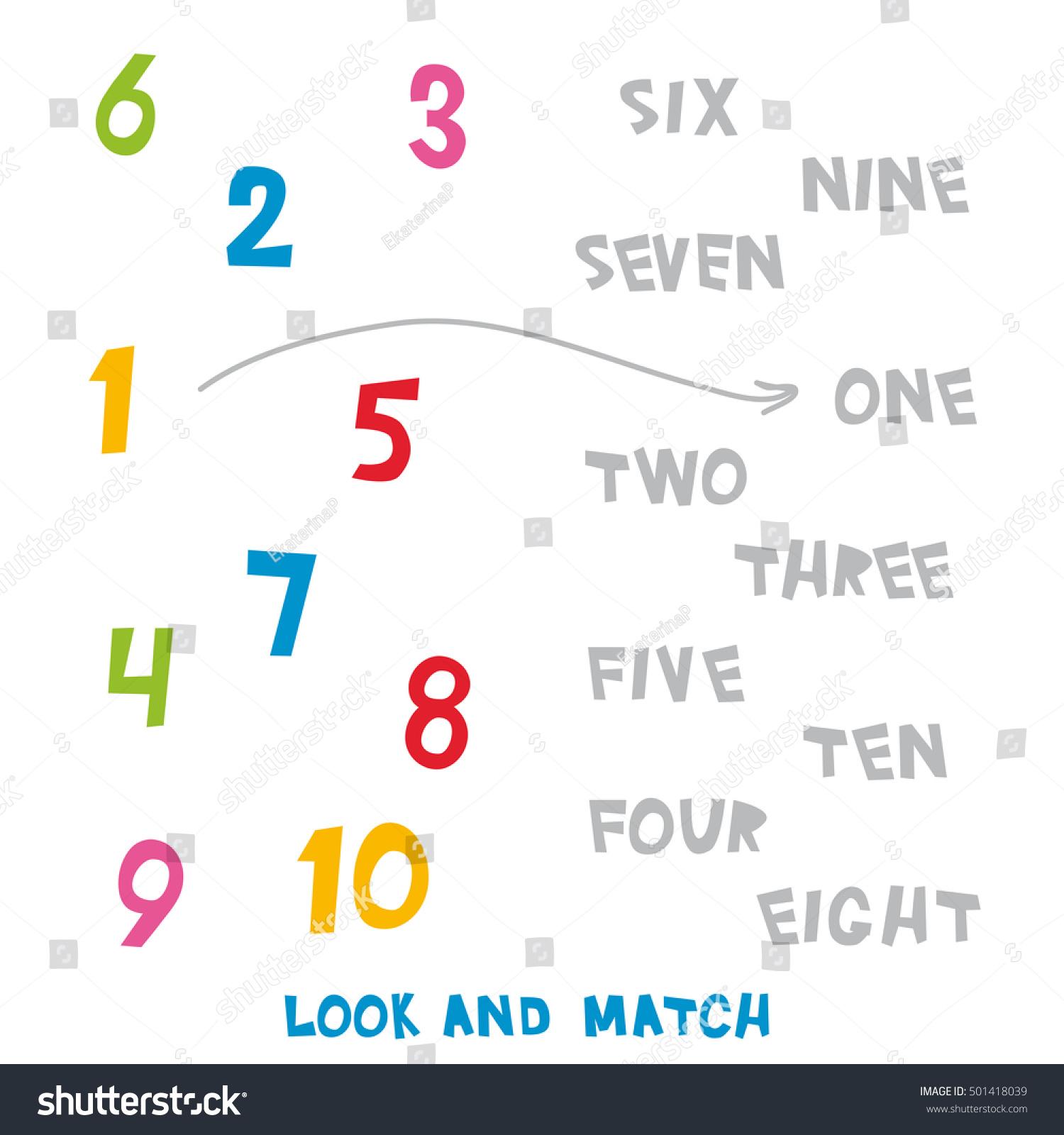 Number Match Up Worksheet