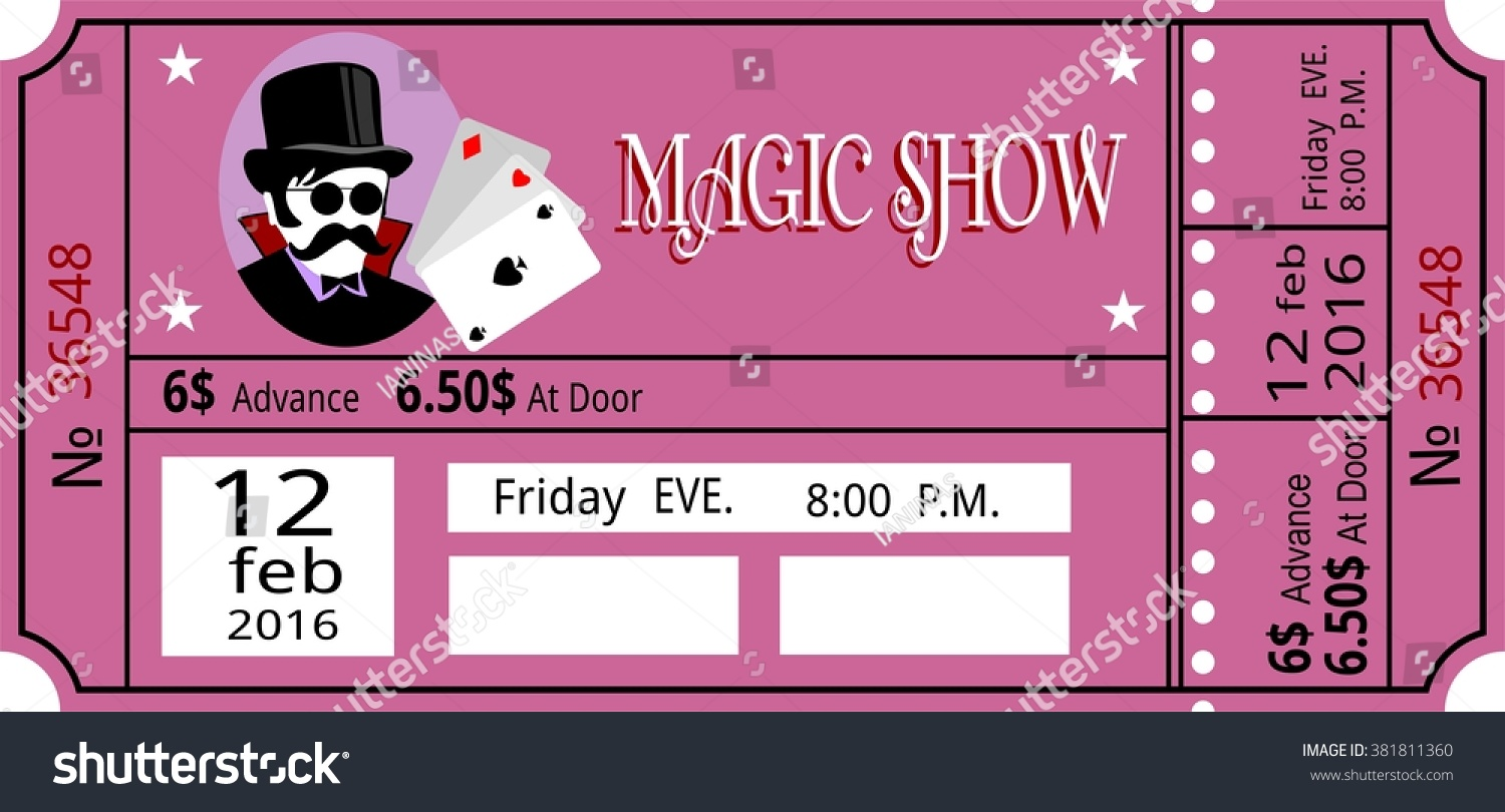 fake concert ticket generator 8 best images of free html template – Show Ticket Template