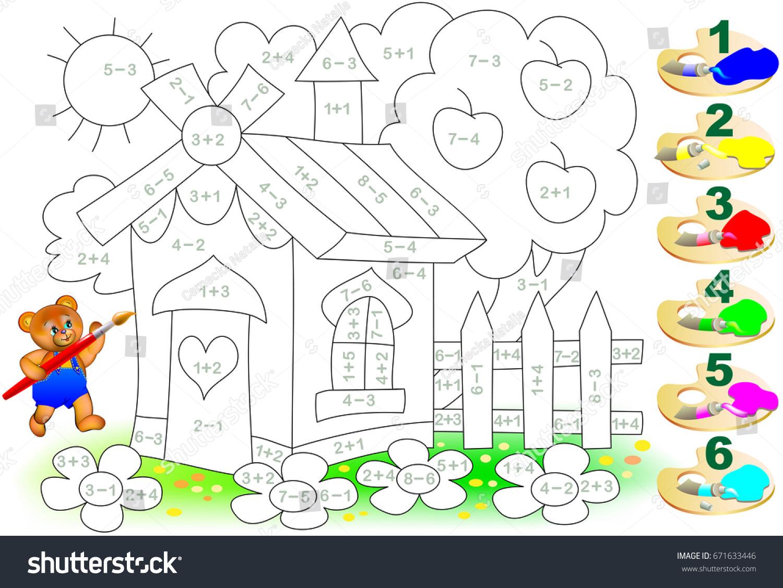 Mathematical Worksheet Children On Addition Subtraction