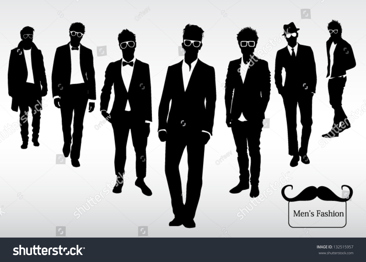 Men S Fashion Stock Vector Illustration