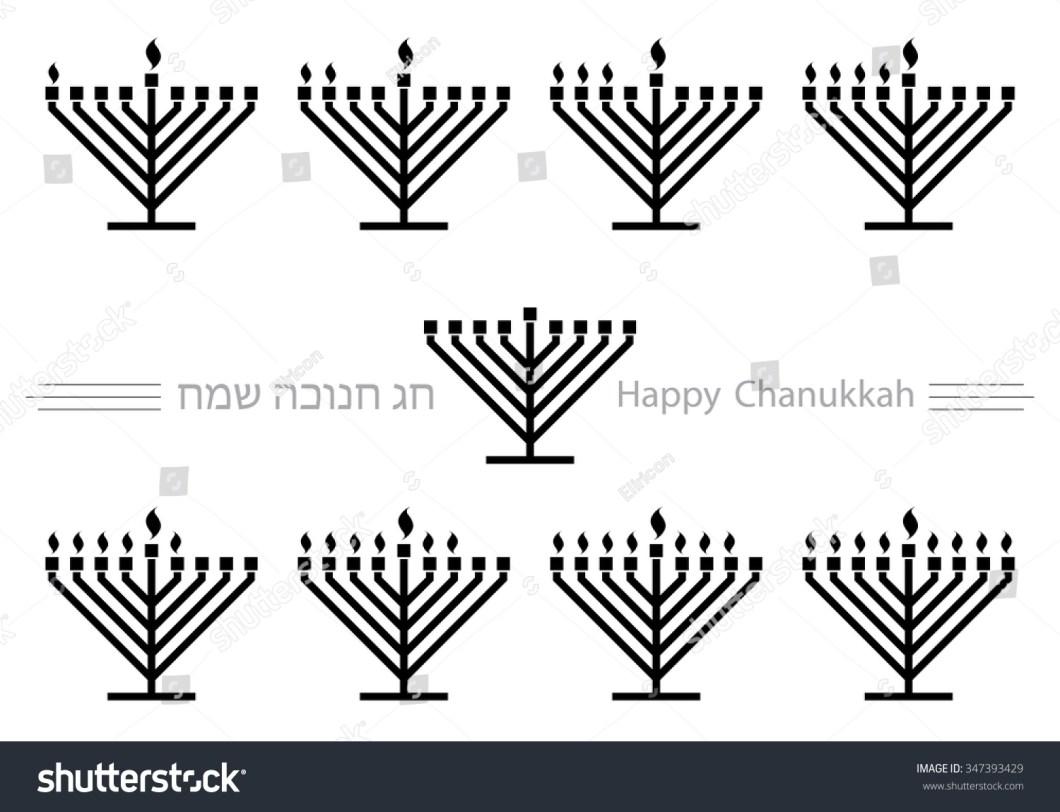 Menorah Lighting Order Diagram Candles Hanukkah Clipart Stock Vector