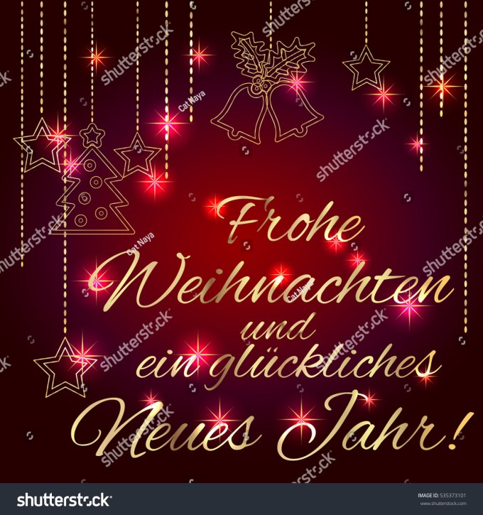 Merry christmas and happy new year greetings in german merry christmas and happy new year card template with greetings in german language luxury m4hsunfo