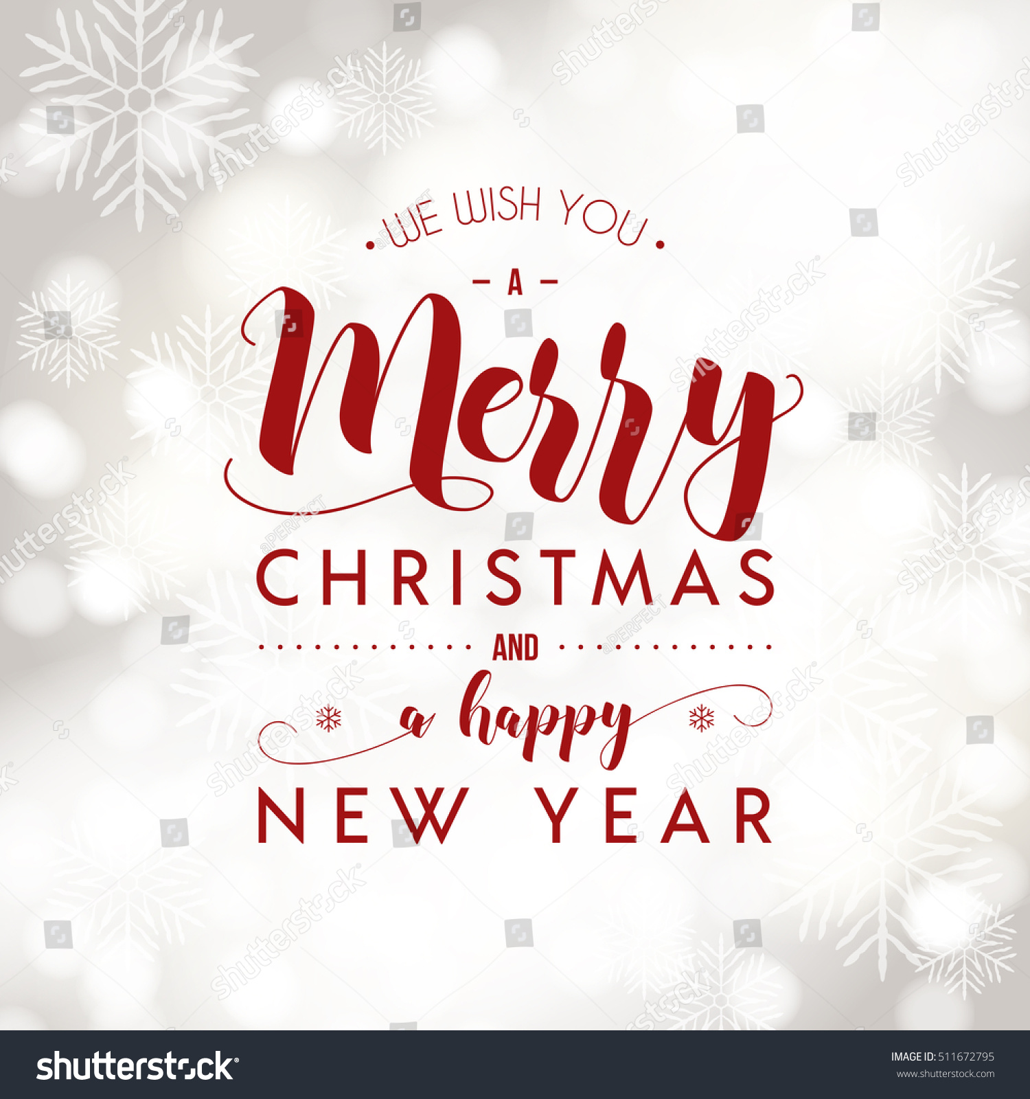 Merry Christmas Happy New Year Greeting Stock Vector