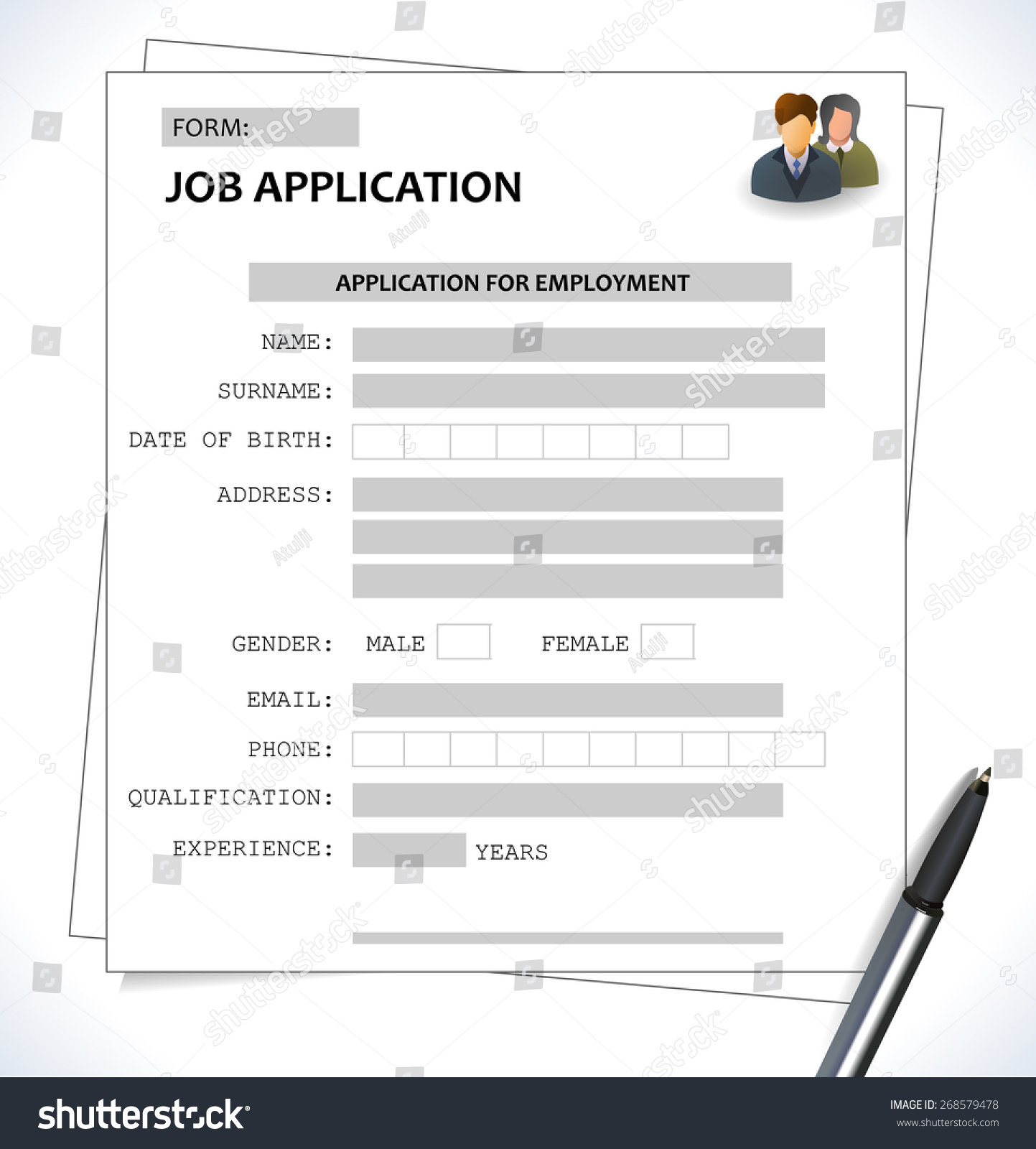 minimalist cv resume template job application form vector