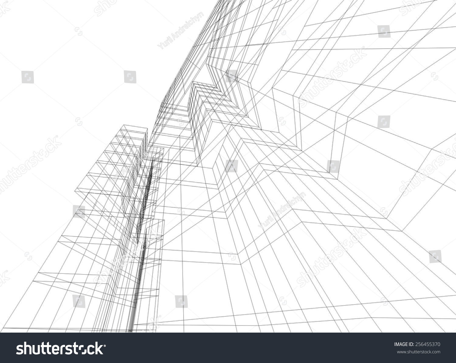 Modern Architectural Drawing Architecture Background Skyscraper Building