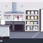 Modern Commercial Restaurant Kitchen Interior Design Stock Vector Royalty Free 1347774410